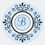 Pegatinas del sello del sobre del boda del etiqueta redonda