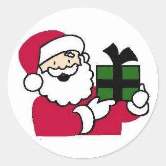 Pegatinas del sobre de la tarjeta de Navidad Pegatina Redonda