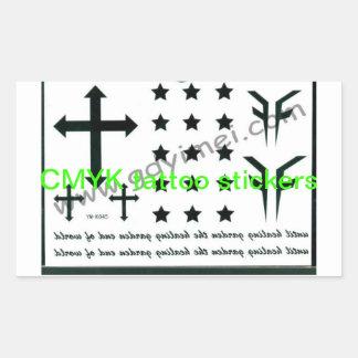 Pegatinas del tatuaje de CMYK