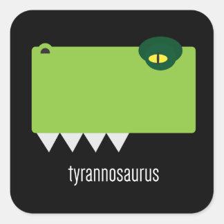 Pegatinas del Tyrannosaurus Pegatina Cuadrada