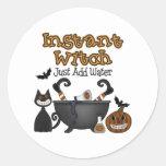 Pegatinas divertidos de la bruja de Halloween