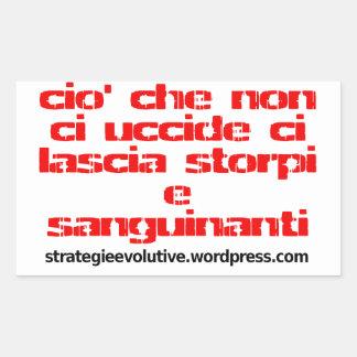 pegatinas evolutivos del eslogan del strategie pegatina rectangular