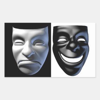 Pegatinas Feliz-Tristes de la máscara Rectangular Altavoz