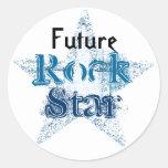 Pegatinas futuros de la estrella del rock pegatinas redondas
