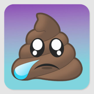 Pegatinas gritadores de Emoji Ombre del impulso Pegatina Cuadrada