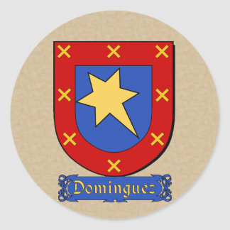 Pegatinas hispánicos del escudo de la familia de pegatina redonda