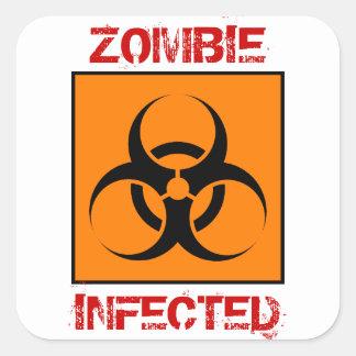 Pegatinas infectados zombi
