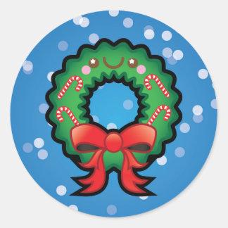 Pegatinas lindos de la decoración de la guirnalda pegatina redonda