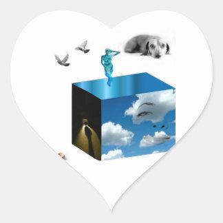 pegatinas mágicos de la caja pegatina en forma de corazón