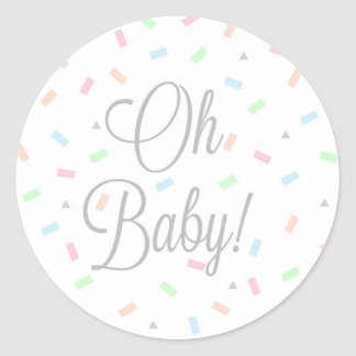Pegatinas neutrales del bebé del género, redondos pegatina redonda