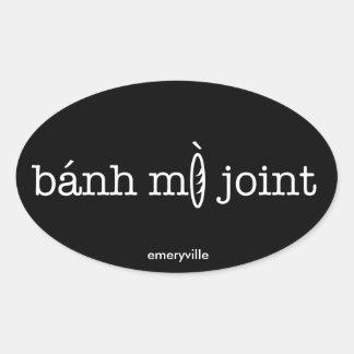 Pegatinas ovales comunes de Banh MI: 4 PK (horiz,