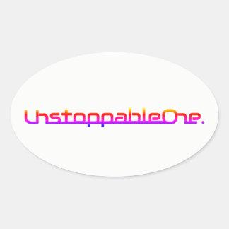 Pegatinas ovales de UnstoppableOne - cantidad de 4