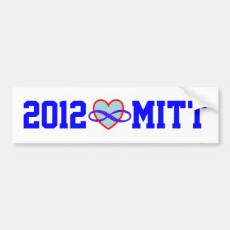 Pegatinas para el parachoques 2012 del corazón del etiqueta de parachoque