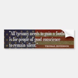 Pegatinas para el parachoques de Thomas Jefferson