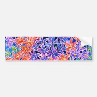 Pegatinas para el parachoques florales del