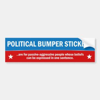 Pegatinas para el parachoques políticas pegatina para coche