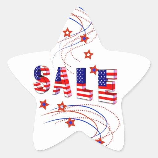 Pegatinas patrióticos de la estrella de la venta calcomania forma de estrella personalizada