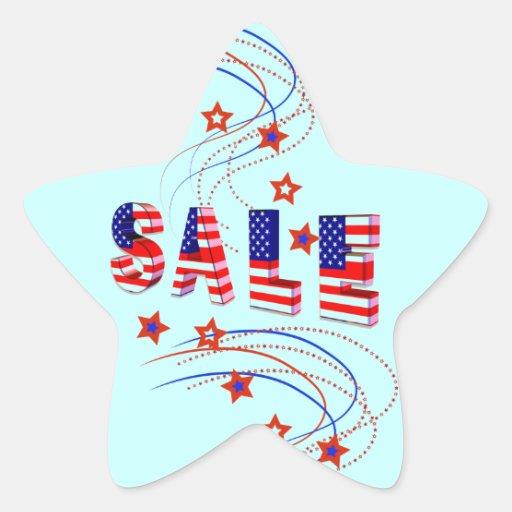 Pegatinas patrióticos de la estrella de la venta pegatinas forma de estrellaes