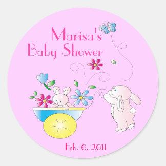 Pegatinas personalizados bebé de la fiesta de pegatina redonda