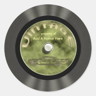 Pegatinas personalizados del disco de vinilo del pegatina redonda