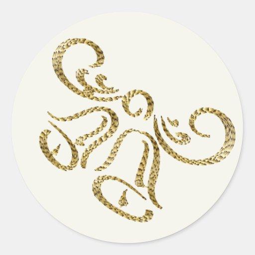 Pegatinas preciosos de Belces de boda del oro Pegatina Redonda