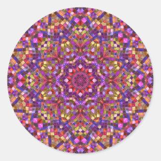 Pegatinas redondos clásicos, 7 formas pegatina redonda