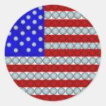 Pegatinas redondos de la bandera americana de las pegatina redonda