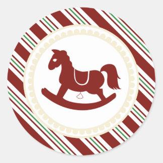 Pegatinas rojos del bastón de caramelo del caballo