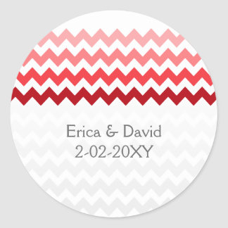 pegatinas rojos del favor del boda de Ombre del Etiquetas Redondas