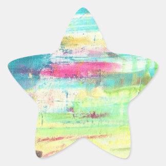 Pegatinas rosados del arte del golpe fuerte pegatina en forma de estrella