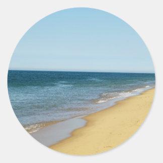 Pegatinas vacíos de la playa pegatina redonda