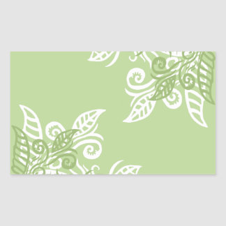 Pegatinas verdes del modelo de la planta de la rectangular pegatinas
