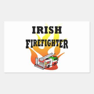 Pegatinas y etiquetas irlandeses del bombero rectangular altavoz