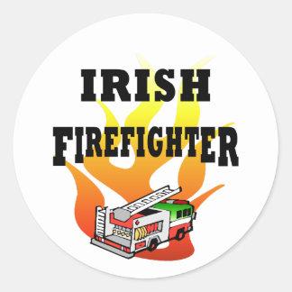 Pegatinas y etiquetas irlandeses del bombero pegatinas redondas