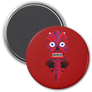 Pegatinas y imanes de Diablo del zombi del EL Imán Redondo 7 Cm