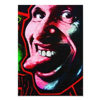 Pegue hacia fuera la lengua, galería de la zona invitación 12,7 x 17,8 cm
