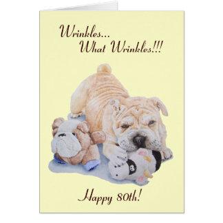 pei del perrito lindo divertido y tarjeta shar del