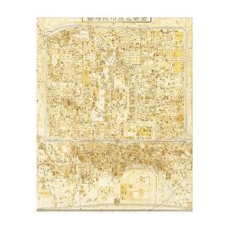 Pekín, ChinaPanoramic MapPeking, China Impresión En Lienzo