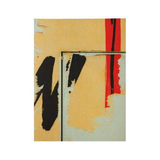 Peladura de arte de papel pintado póster de madera