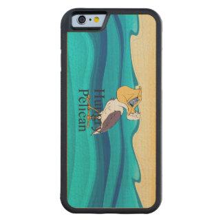 Pelícano hambriento SUPERIOR Funda De iPhone 6 Bumper Arce