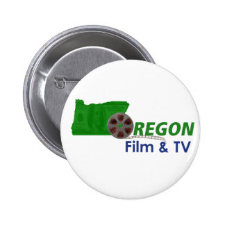 Película de Oregon y botones de la TV Chapa Redonda 5 Cm