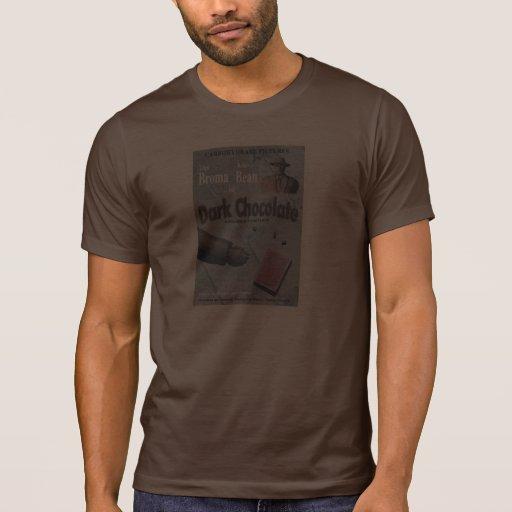 Película oscura del chocolate camiseta