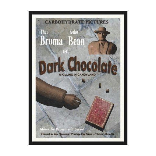 Película oscura del chocolate lienzo envuelto para galerías