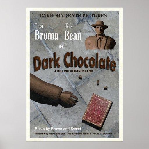Película oscura del chocolate poster