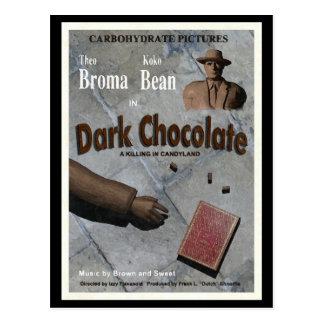 Película oscura del chocolate postal
