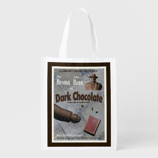 Película oscura del chocolate bolsa reutilizable
