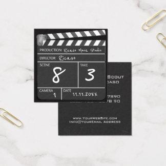 Película personalizada Clapperboard Tarjeta De Visita Cuadrada