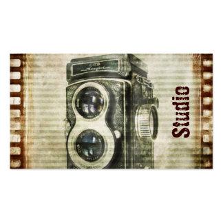 Película retra de las cámaras del Grunge del vinta Tarjeta De Negocio