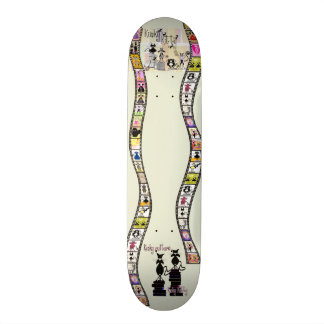 Película rizada del gatito rizado tabla de skate