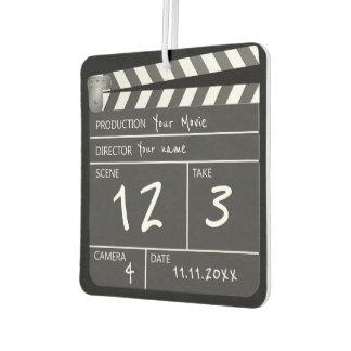 Película única personalizada novedad Clapperboard Ambientador